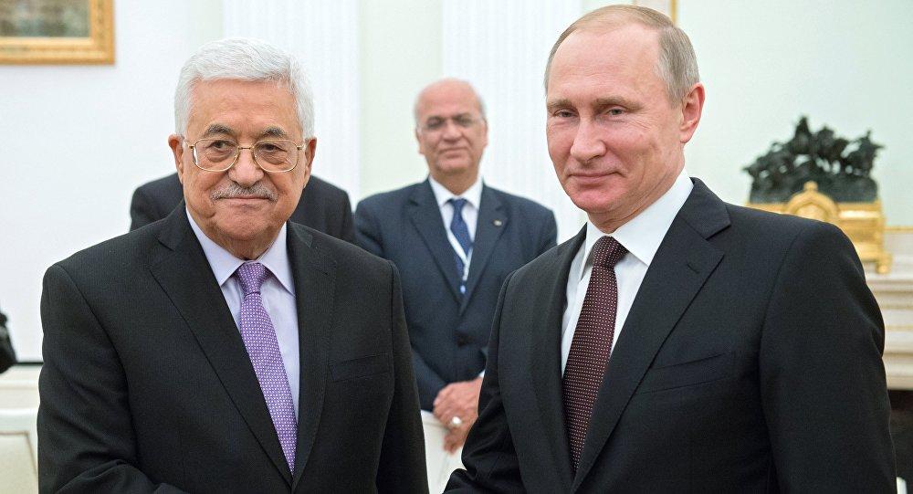 Rusya Devlet Başkanı Vladimir Putin - Filistin Yönetimi lideri Mahmud Abbas