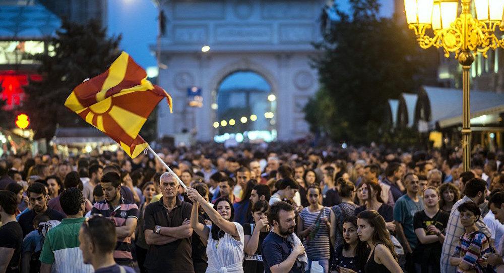 Makedonya'da Cumhurbaşkanı'nın istifası talebiyle düzenlenen eylemler devam ediyor.