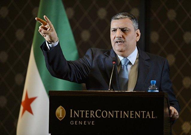 Suudi Arabistan destekli Suriyeli muhaliflerin oluşturduğu Yüksek Müzakere Komitesi'nin Başkanı Riyad Hicab