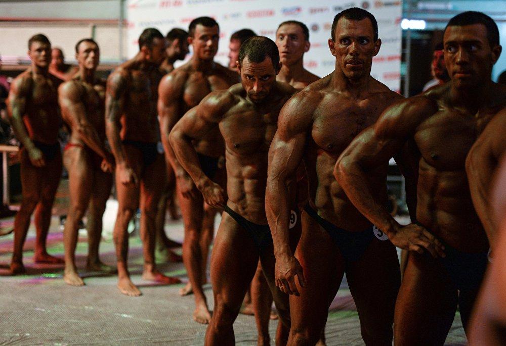 Rusya'da vücut geliştirme yarışması