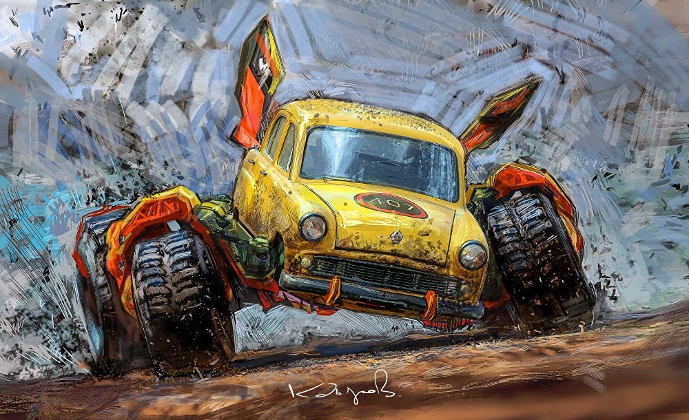 Sovyet arabaları Kdirov'un ellerinde 'canavar arabalara' dönüştü.