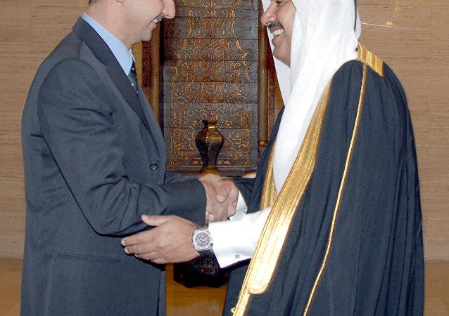 Eski Katar Başbakanı Hamad bin Casim bin Cabir el Sani - Suriye Devlet Başkanı Beşar Esad