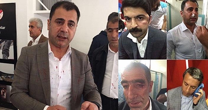 Amedspor Kulübü yöneticileri, MKE Ankaragücü maçının ardından darp edildi.
