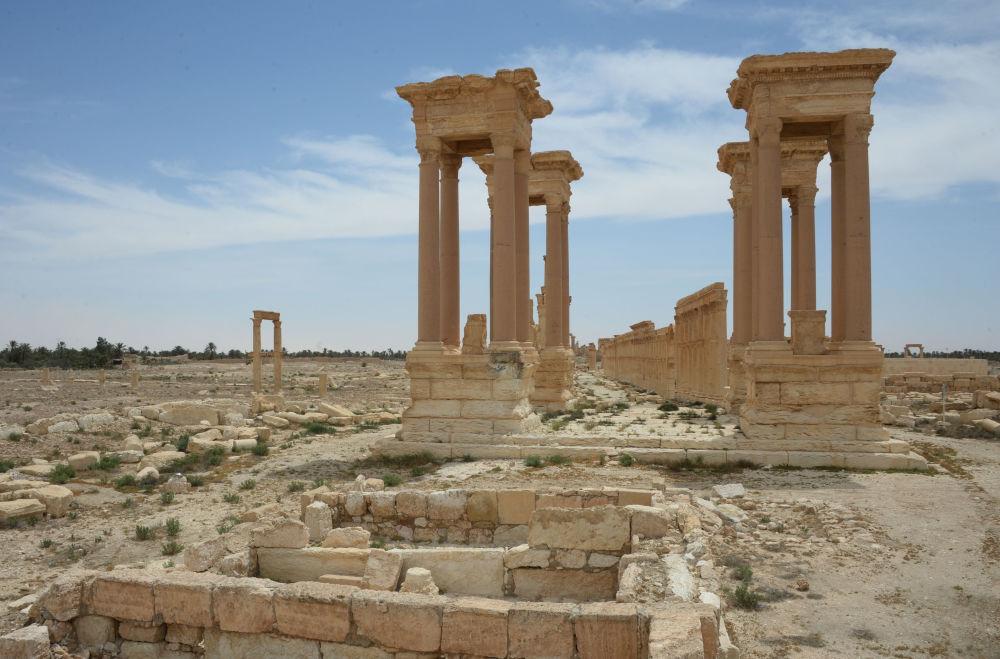 Antik Palmira'dan geriye kalanlar