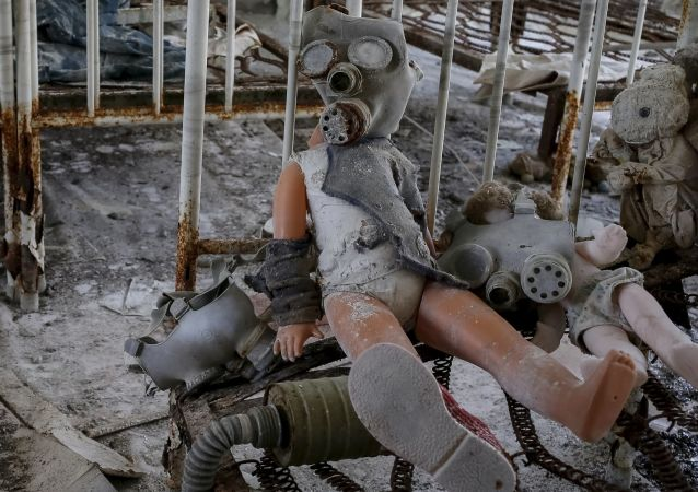 Çernobil'deki çocuk bakımevi.