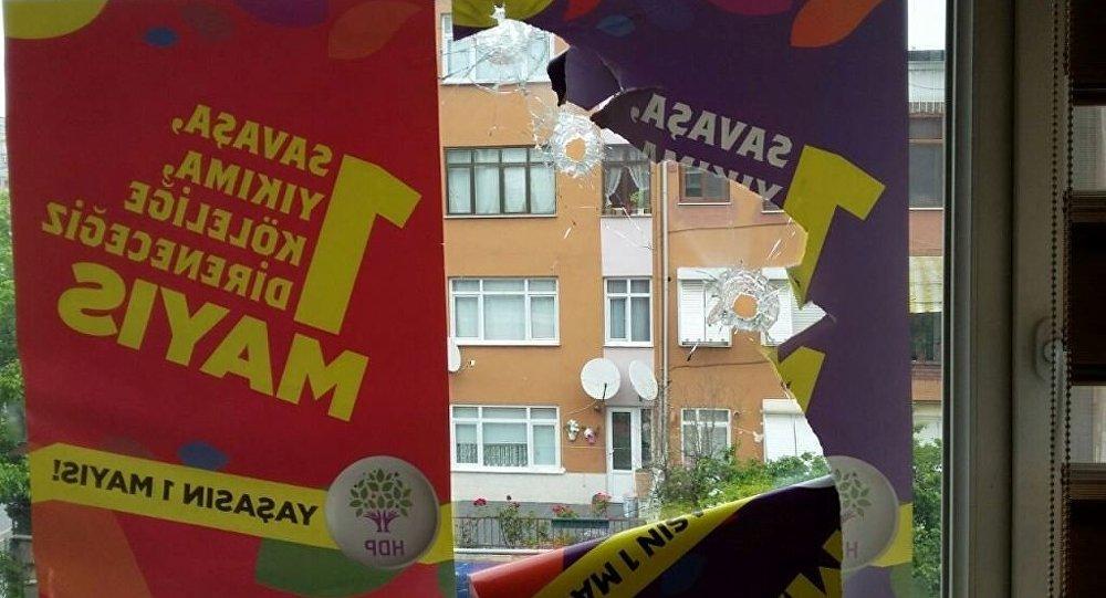 HDP Kartal binasına silahlı saldırı