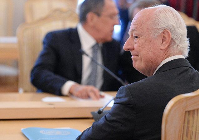 Sergey Lavrov - Staffan de Mistura