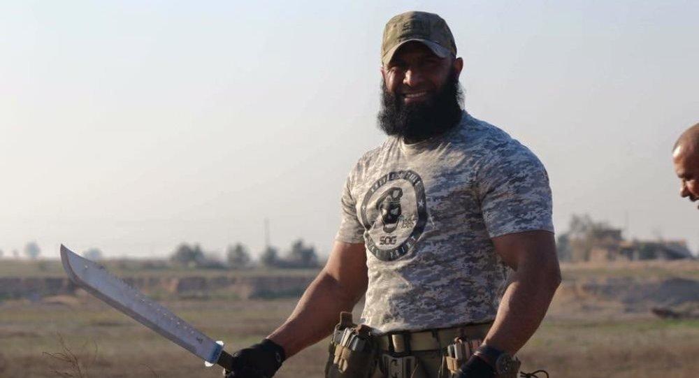 Irak'ta IŞİD'e karşı savaşan İmam Ali Tugayları üyesi 'Ebu Azrail'