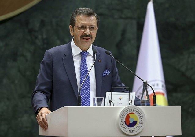 Türkiye Odalar ve Borsalar Birliği (TOBB) Başkanı Rifat Hisarcıklıoğlu.