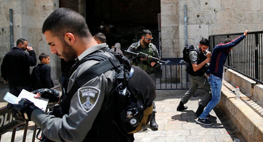 İsrail - Filistin / Polis kontrolü / Kudüs - Şam Kapısı