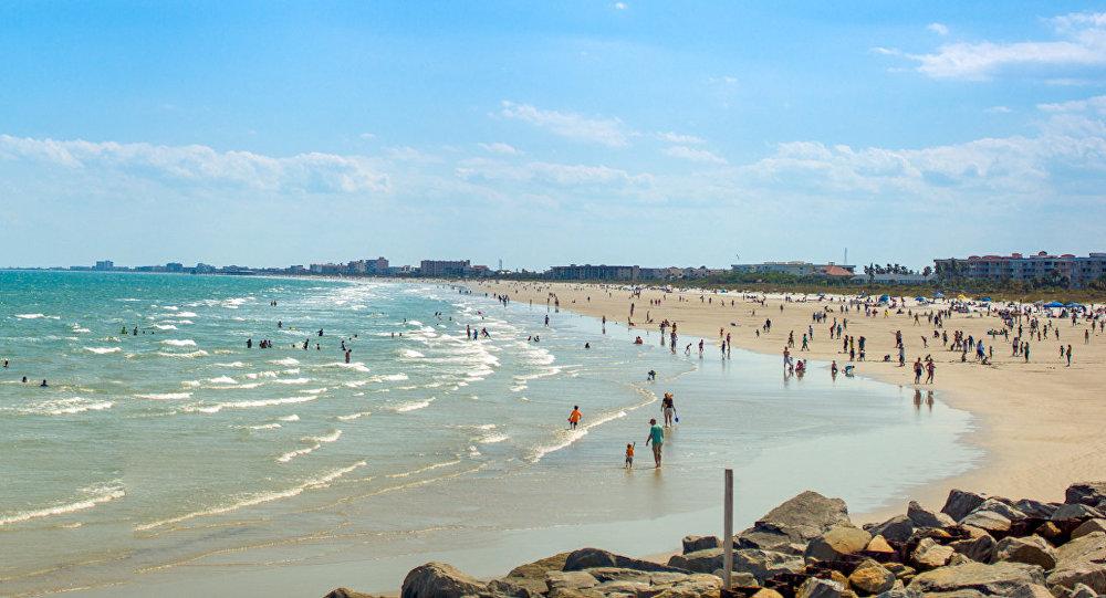 Florida'da bir kumsal.