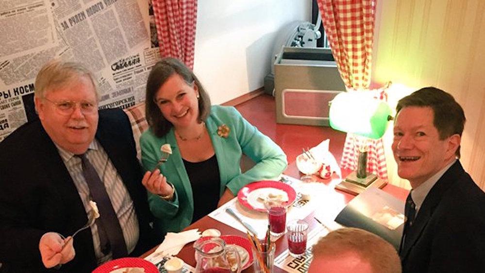 ABD Dışişleri Bakan Yardımcısı Victoria Nuland Moskova'daki favori mantıcısında.