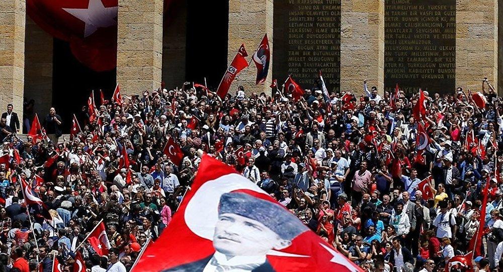 19 Mayıs Atatürk'ü Anma Gençlik ve Spor Bayramı, Anıtkabir'de kutlandı.