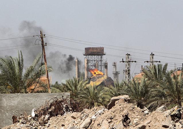 Bağdat'ın 20 kilometre kuzeyinde IŞİD'in düzenlediği bir intihar saldırısı.