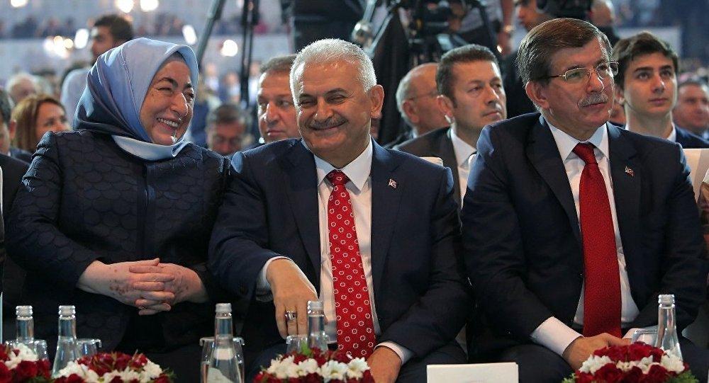 Semiha Yıldırım - Binali Yıldırım - Ahmet Davutoğlu