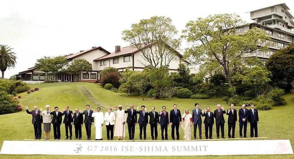G7 Zirvesi aile fotoğrafı