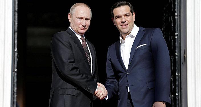 Rusya Devlet Başkanı Valdimir Putin ve Yunanistan Başbakanı Aleksis Çipras