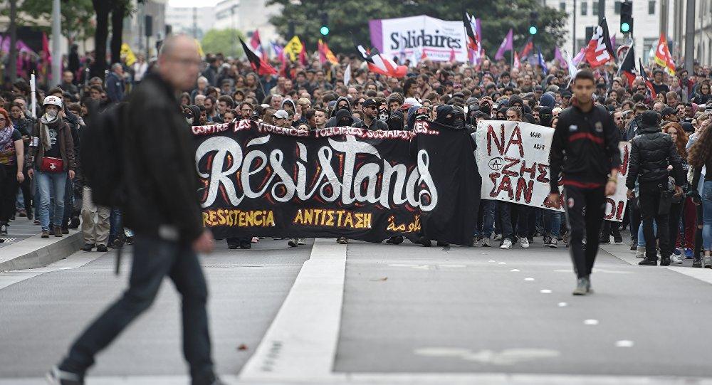 Fransa - Nantes - Çalışma yasası protestosu