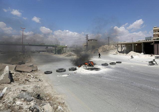Şam-Halep otoyolu.