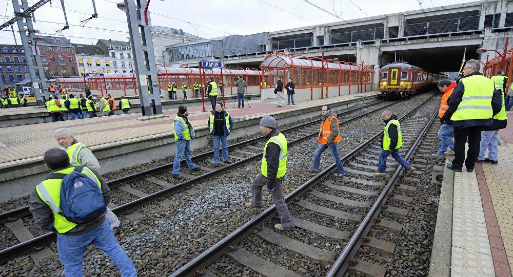 Belçika - Demiryolları - Grev