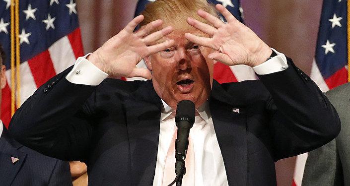 ABD başkanlık yarışının Cumhuriyetçi adayı Donald Trump.