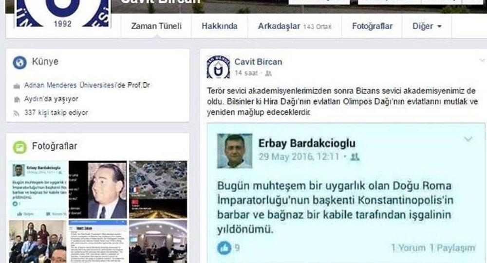 Sosyal medya hesabı üzerinden İstanbul'un fethi ile ilgili paylaşım yapan bir öğretim üyesi açığa alındı.