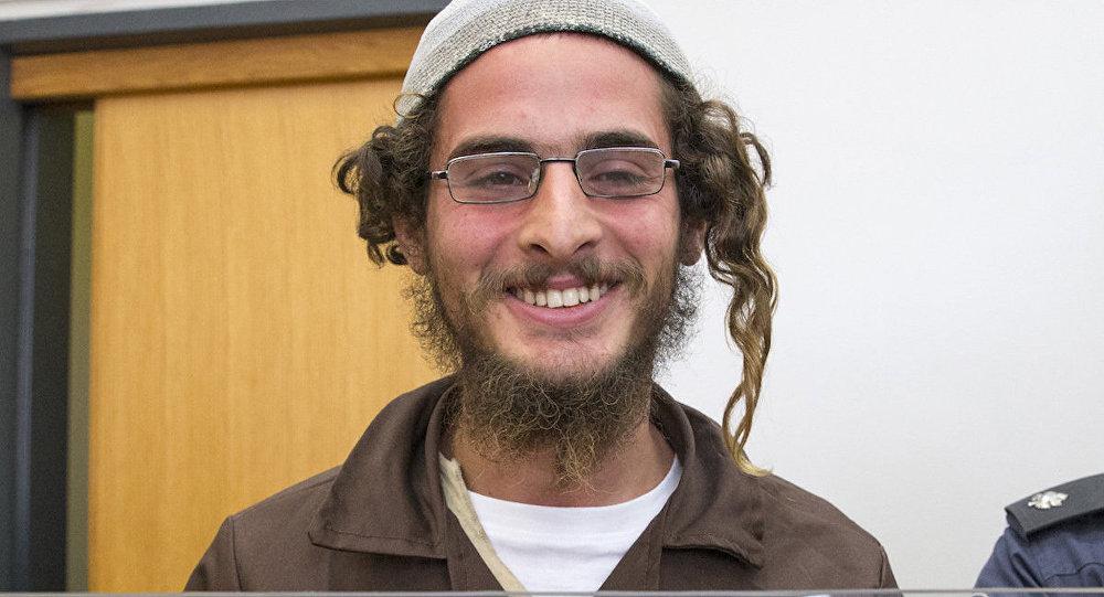 Filistinli ailenin evini kundaklamakla suçlanan Meir Ettinger.