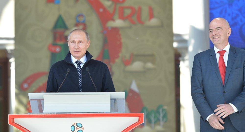Rusya Devlet Başkanı Vladimir Putin- FIFA Başkanı Gianni Infantino