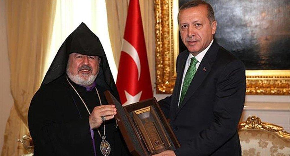 Recep Tayyip Erdoğan ve Türkiye Ermenileri Patrik Vekili Aram Ateşyan