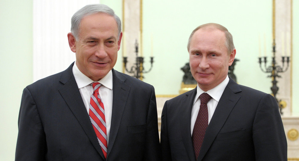 Rusya Devlet Başkanı Vladimir Putin ve İsrail Başbakanı Benyamin Netanyahu.