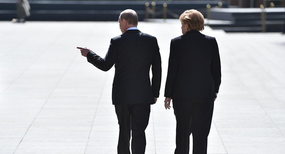 Vladimir Putin - Angela Merkel