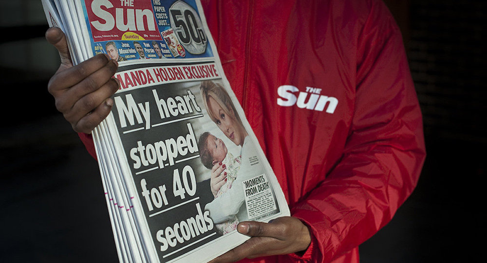 İngiliz The Sun gazetesi.