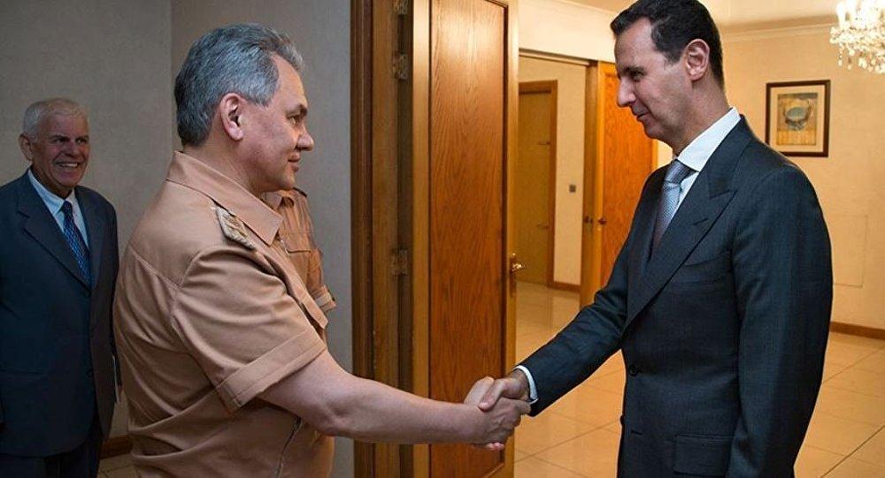 Rusya Savunma Bakanı Sergey Şoygu, Şam'da Suriye Devlet Başkanı Beşar Esad ile sürpriz görüşme yaptı.