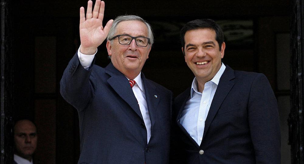 Avrupa Komisyonu Başkanı Jean-Claude Juncker ve Yunanistan Başbakanı Aleksis Çipras, Atina'da bir araya geldi.