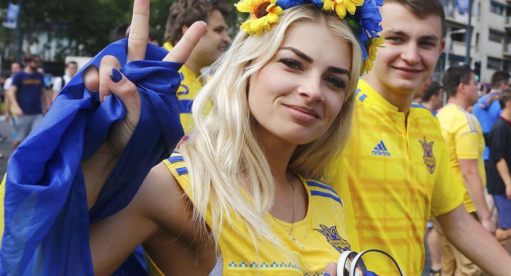 Ukraynalı taraftarlar.