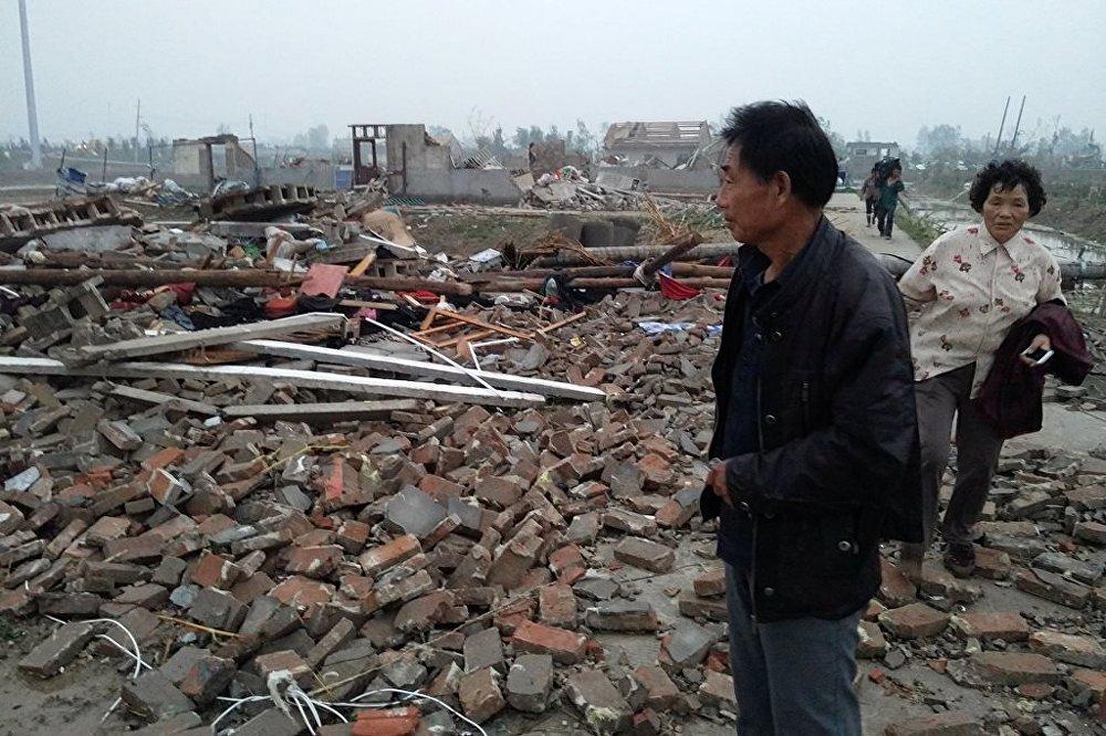 Çin'de hortum ve fırtına