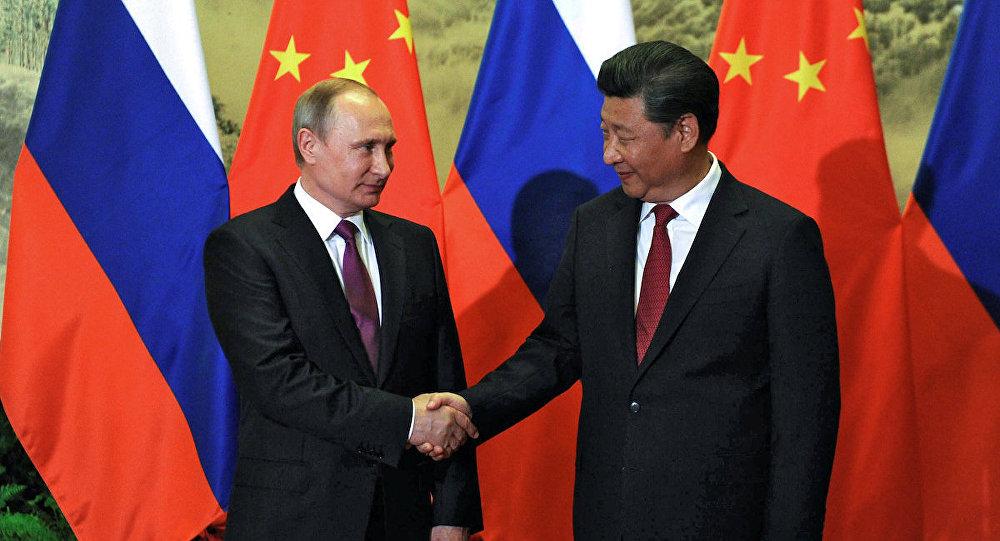 Rusya Devlet Başkanı Vladimir Putin ve Çin Devlet Başkanı Şi Cinping