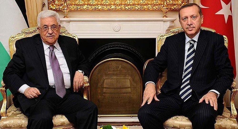 Cumhurbaşkanı Recep Tayyip Erdoğan ve Filistin Devlet Başkanı Mahmud Abbas