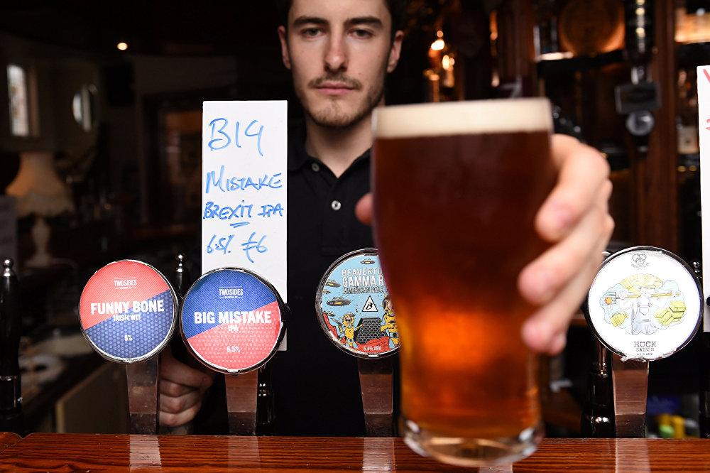 İrlanda'nın başkenti Dublin'de bir bar, Brexit birası yaptı.