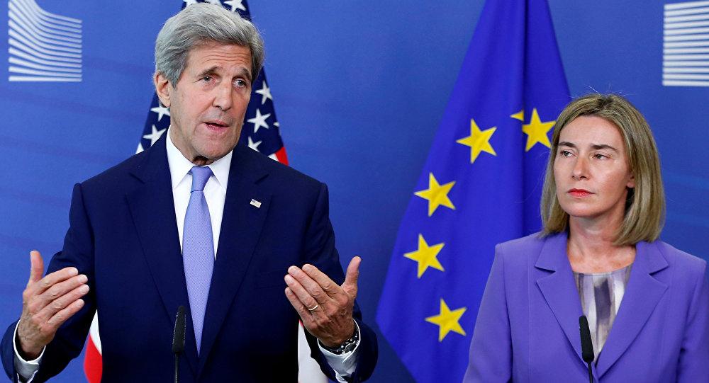 ABD Dışişleri Bakanı John Kerry - AB Dış Politika ve Güvenlik Yüksek Temsilcisi Federica Mogherini