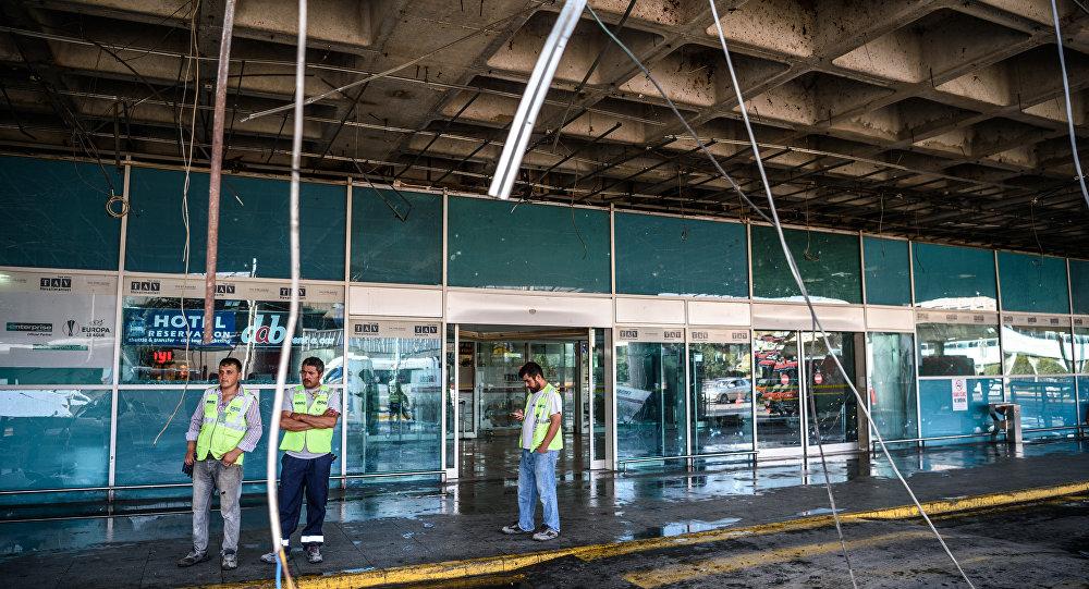 Saldırının ardından Atatürk Havalimanı