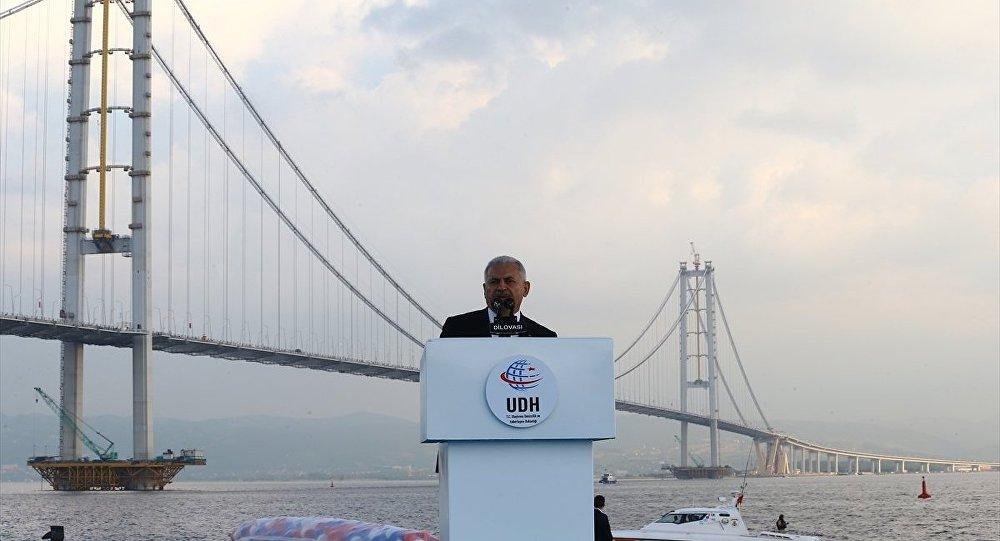 Başbakan Binali Yıldırım, Osmangazi Köprüsü açılış töreninde konuşma yaptı.