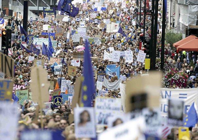 Londra'da 'AB'den ayrılmak istemiyoruz' protestosu