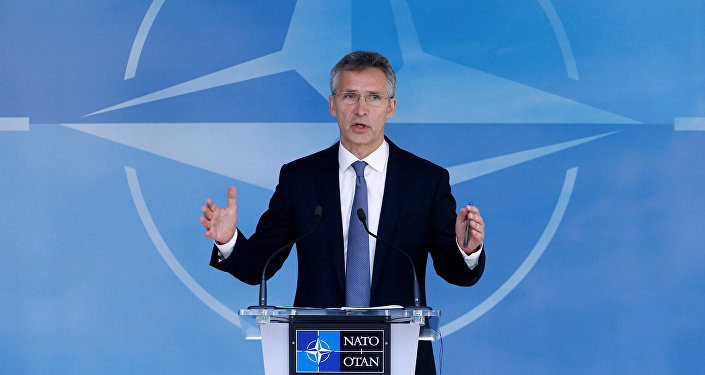 NATO Secretary-General Jens Stoltenberg briefs the media during a NATO defence ministers meeting at the Alliance headquarters in Brussels, Belgium, June 14, 2016