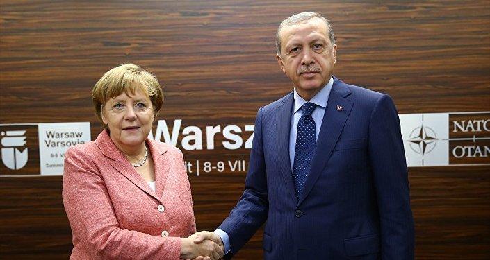 Cumhurbaşkanı Recep Tayyip Erdoğan -  Almanya Başbakanı Angela Merkel