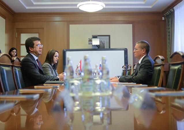 Türkiye Ekonomi Bakanı Nihat Zeybekci- Rusya Ekonomik Kalkınma Bakanı Aleksey Ulyukayev