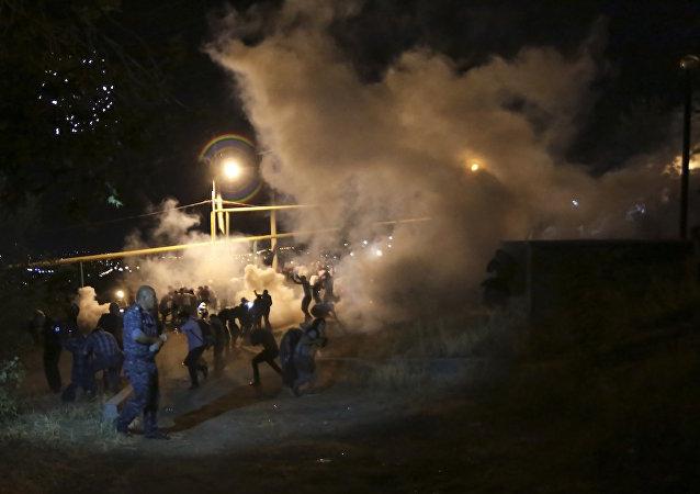 Yerevan'da polis müdahalesi