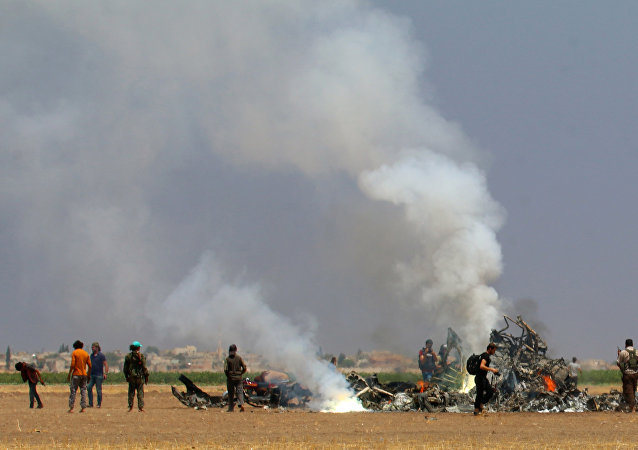 İdlib'de Rus helikopteri düşürüldü
