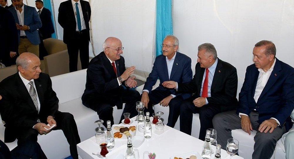 Yenikapı mitingin öncesi Kılıçdaroğlu - Kahraman - Bahçeli - Erdoğan - Yıldırım