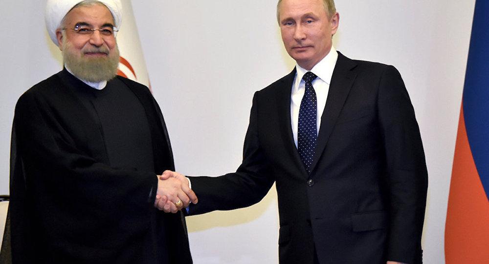 Rusya Devlet Başkanı Vladimir Putin ve İran Cumhurbaşkanı Hasan Ruhani